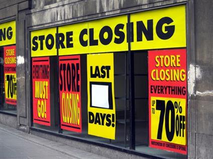 Store closing down discounts liquidation bankrupt recession downturn high street